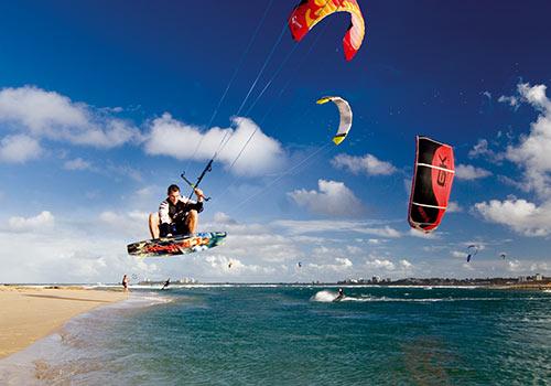 Kite surfing on Cotton Tree